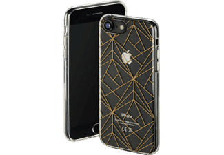 HAMA Golden Graphics Handyhülle, Transparent/Gold, passend für Apple iPhone 6, iPhone 6s, iPhone 7, iPhone 8