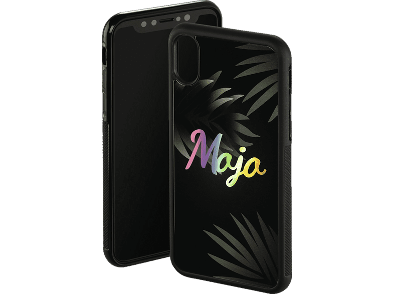 HAMA Mojo , Backcover, Apple, iPhone X, Glas/Thermoplastisches Polyurethan, Schwarz