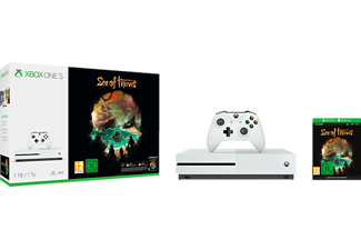 Consola Xbox One S 1 TB, Blanco + Sea of Thieves