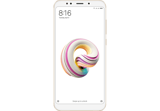 "Móvil - Xiaomi Redmi 5 Plus, 5.99"", Full HD, 3 GB RAM, 32 GB, 12 MP, Dual SIM, Dorado"