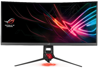 Monitor gaming Asus ROG STRIX XG35VQ, 35, UWQHD, HDMI, 4ms, AMD FreeSync, Color Rojo + Gris oscuro
