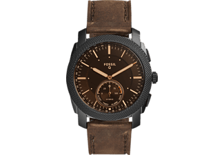FOSSIL FTW 1163 Machine Hybrid, Smartwatch, Leder, 200 mm, Schwarz