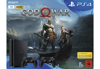 SONY PlayStation 4 1 TB Black inkl. God of War und 2 x DUALSHOCK®4 Wireless-Controller