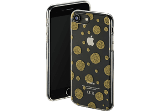 HAMA Golden Circles Handyhülle, Transparent/Gold, passend für Apple iPhone 6, iPhone 6s, iPhone 7, iPhone 8