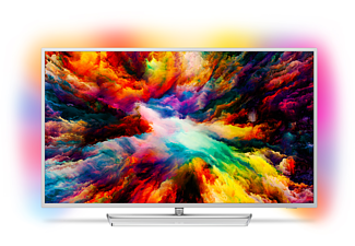 PHILIPS 50PUS7363, 126 cm (50 Zoll), UHD 4K, SMART TV, LED TV, 1600 PPI, Ambilight 3-seitig, DVB-T2 HD, DVB-C, DVB-S, DVB-S2