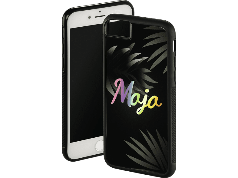 HAMA Mojo , Backcover, Apple, iPhone 6, iPhone 6s, iPhone 7, iPhone 8, Glas/Thermoplastisches Polyurethan, Schwarz