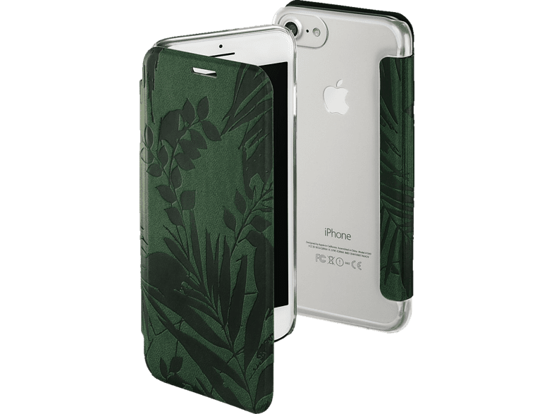 HAMA  Jungle Leaves Bookcover Apple iPhone X Kunststoff Dunkelgrün | 04047443379924