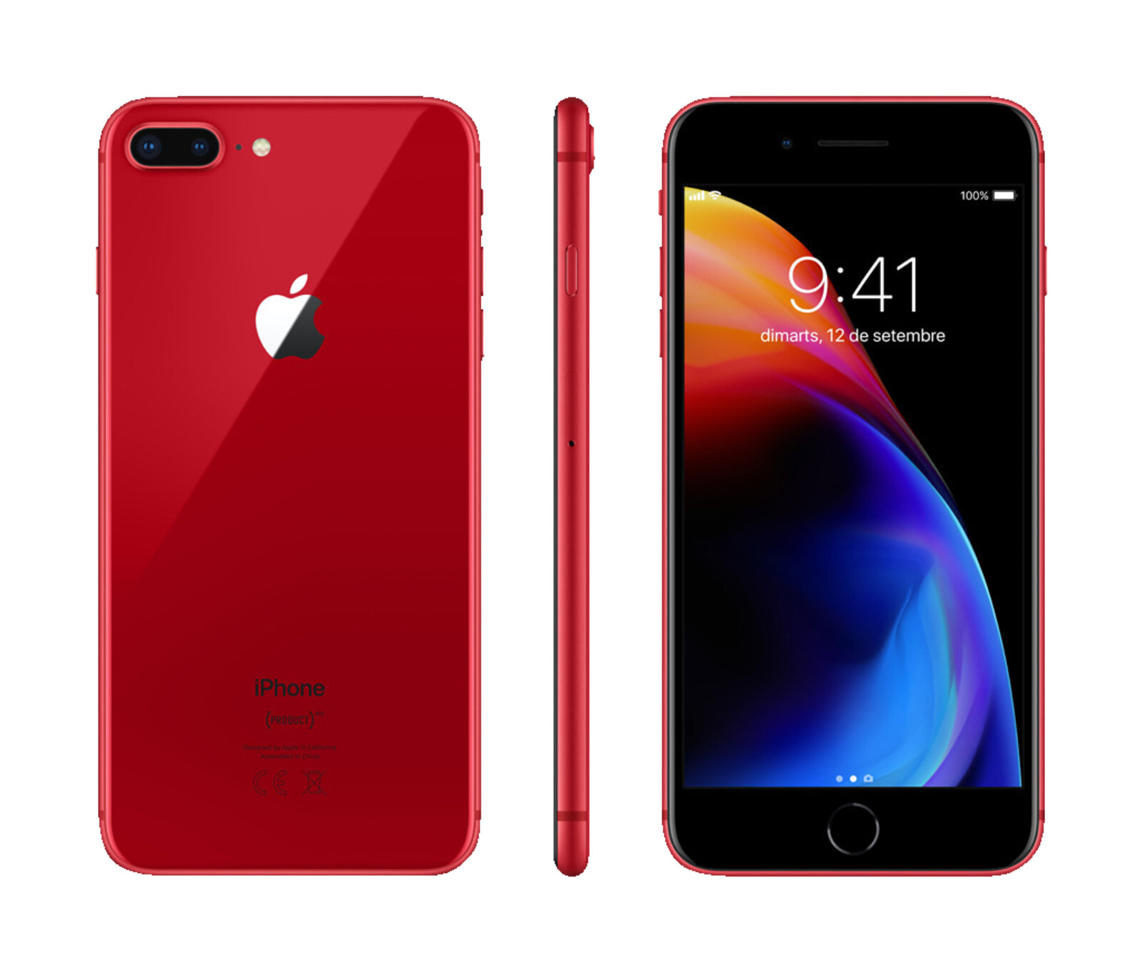 apple iphone 8 plus red smartphone 64 gb rot ebay. Black Bedroom Furniture Sets. Home Design Ideas