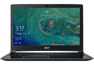 ACER Aspire 7 (A715-72G-74ZB), Notebook mit 15.6 Zoll Display, Core™ i7 Prozessor, 8 GB RAM, 128 GB SSD, 1000 GB HDD, NVIDIA® GeForce® GTX 1050, Schwarz (Aluminium A- & C-Cover)