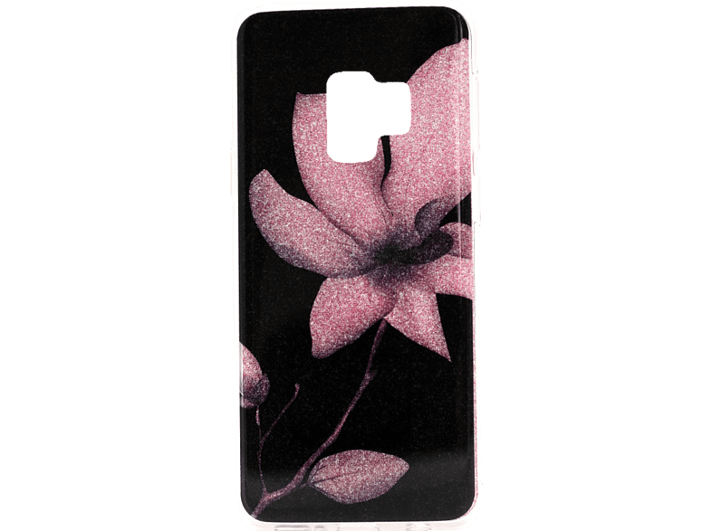 AGM Flower Backcover Samsung Galaxy S9 Kunststoff Mehrfarbig