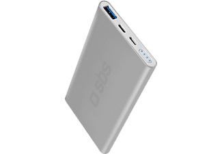 SBS MOBILE Fast Charge 5000mAh Powerbank - Silver