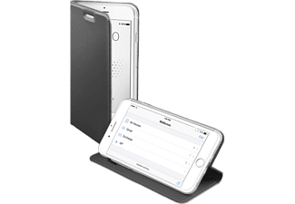 SBS MOBILE Book Case with Stand Function till iPhone 6/6S/7/8 - Mörk Silver