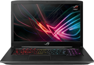 ASUS ROG STRIX GL703GE, Notebook mit 17.3 Zoll Display, Core™ i7 Prozessor, 128 GB SSD, 1 TB HDD, GeForce GTX 1050 Ti, Schwarz