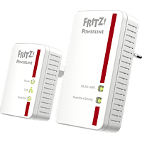 Powerline Adapter AVM FRITZ!Powerline 540E WLAN Set 500 Mbit/s Kabellos und Kabelgebunden