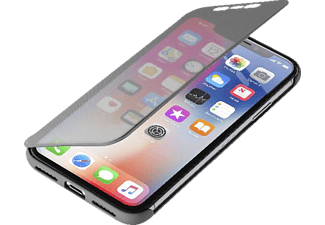 CELLULAR LINE 39369 Handyhülle, Schwarz/Transparent, passend für Apple iPhone X