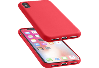 CELLULAR LINE Sensation Silkon Case Handyhülle, Rot, passend für Apple iPhone X
