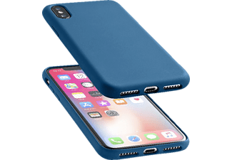 CELLULAR LINE Sensation Silkon Case Handyhülle, Blau, passend für Apple iPhone X