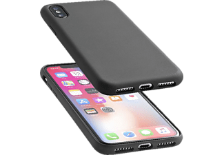 CELLULAR LINE Sensation Silkon Case iPhone X Handyhülle, Schwarz