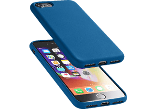 CELLULAR LINE Sensation Silkon Case Handyhülle, Blau, passend für Apple iPhone 7, iPhone 8
