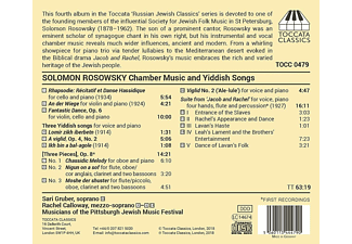 Sari Gruber, Rachel Calloway, Musicians Of The Pittsburgh Jewish Music Festival - Chamber Music And Yiddish Songs - (CD)