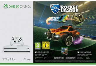 Consola - Xbox One S, 1 TB, Blanca + Rocket League