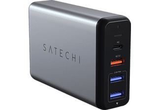 SATECHI Satechi 75W Multi-Port Travel Charger space gray, Reiseladegerät