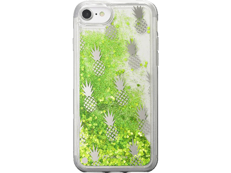 CELLULAR LINE Stardust Hardcover Leo  Backcover Apple iPhone 7 Plus, iPhone 8 Plus Thermoplastisches Polyurethan Ausführung Ananas