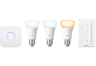PHILIPS HUE White Ambiance Starterkit inclusief dimmer switch E27
