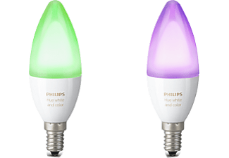 PHILIPS Hue 6W B39 Candle E14 x 2 Pack