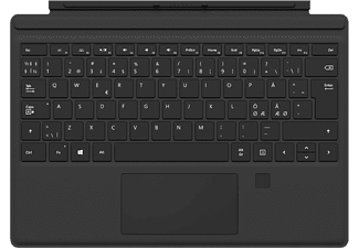 MICROSOFT Surface Pro Type Cover med Fingerprint - Svart