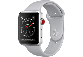 APPLE Watch Series 3 GPS + Cellular eSIM 38mm Aluminiumboett i Silver - Sportband Dimgrått