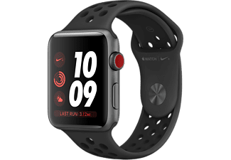 APPLE Watch Series 3 GPS+Cellular eSIM Nike+ 42mm Rymdgrå Aluminiumboett - Sportband Antr/Svart (2018/19)