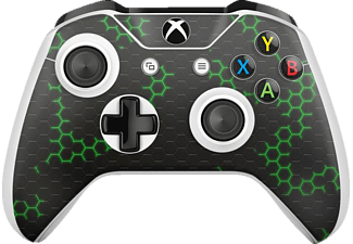 EPIC SKIN XBOX One S Controller Skin Sticker Nano Tech g/s, Skin Sticker, Grün/Schwarz