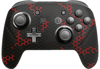 EPIC SKIN Nintendo Switch Pro Controller Skin Sticker Nano Tech Rot, Skin Sticker, Schwarz/Rot