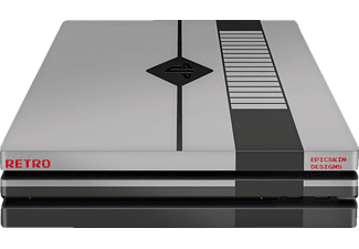 EPIC SKIN PS4 Pro Skin Sticker Retro, Skin Sticker, Schwarz/Grau