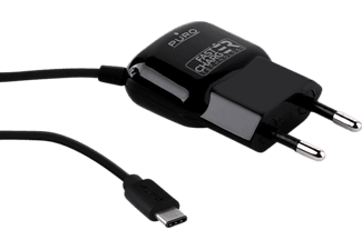 PURO Mini Travel Charger, USB-C-Ladestecker, Schwarz