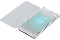 SONY Style C. Stand Backcover Sony Xperia XZ2  Silber