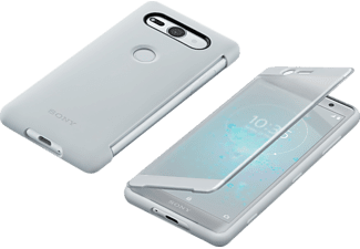 Style C. Stand Bookcover Sony Xperia XZ2 Compact  Silber