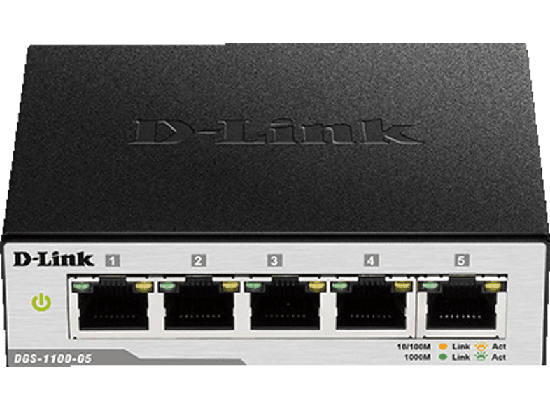 D-LINK 5-Port Gigabit Smart Switch, Schwarz