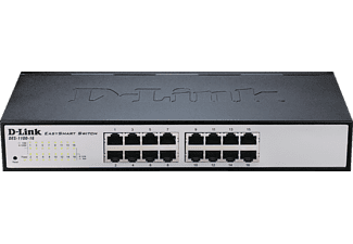 D-LINK 16-Port Layer2 Smart Switch, Schwarz