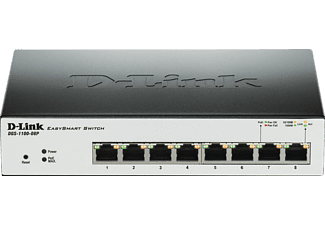 D-LINK 8-Port Layer2 PoE Smart Gigabit Switch, Smart Switch