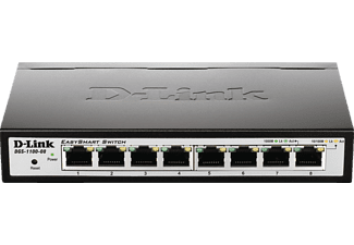 D-LINK 8-Port Layer2 Smart Switch, Schwarz