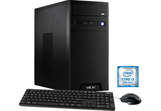 HYRICAN CYBERGAMER 5854, Gaming PC mit Core™ i3 Prozessor, 8 GB RAM, 1 TB HDD, GeForce® GTX 1050, 2 GB GDDR5 Grafikspeicher