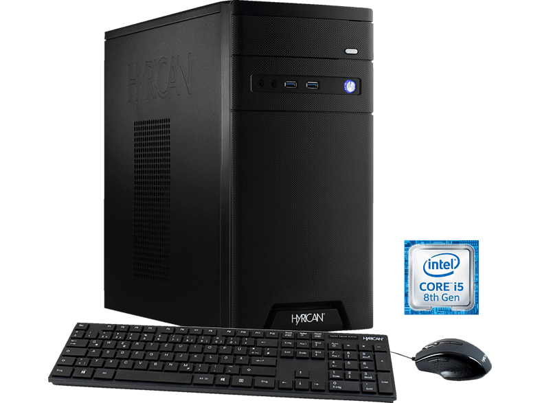 HYRICAN CYBERGAMER 5858, Gaming PC mit Core™ i5 Prozessor, 8 GB RAM, 120 GB SSD, 1 TB HDD, GeForce® GTX 1060, 3 GB