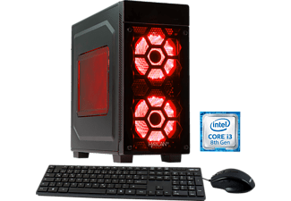 HYRICAN STRIKER 5862, Gaming PC mit Core™ i3 Prozessor, 8 GB RAM, 120 GB SSD, 1 TB HDD, Geforce® GTX 1050 Ti, 4 GB GDDR5 Grafikspeicher