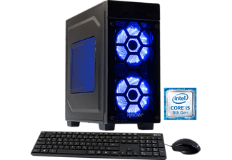 HYRICAN STRIKER 5872, Gaming PC mit Core™ i5 Prozessor, 16 GB RAM, 120 GB SSD, 1 TB HDD, Geforce® GTX 1050 Ti, 4 GB GDDR5 Grafikspeicher