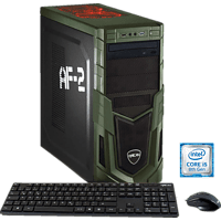 HYRICAN MILITARY 5886, Gaming PC mit Core™ i5 Prozessor, 16 GB RAM, 120 GB SSD, 1 TB HDD, GeForce® GTX 1050 Ti, 4 GB