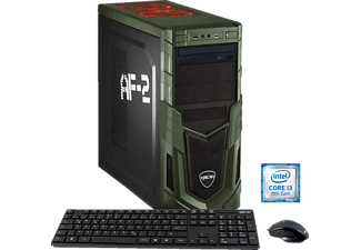 HYRICAN MILITARY 5880, Gaming PC mit Core™ i3 Prozessor, 8 GB RAM, 120 GB SSD, 1 TB HDD, Geforce® GTX 1050 Ti, 4 GB GDDR5 Grafikspeicher