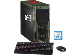 HYRICAN MILITARY 5900, Gaming PC mit Core™ i7 Prozessor, 16 GB RAM, 240 GB SSD, 1 TB HDD, Geforce® GTX 1080, 8 GB GDDR5X Grafikspeicher