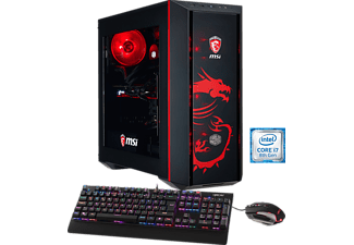 HYRICAN MSI DRAGON E.5932, Gaming PC mit Core™ i7 Prozessor, 16 GB RAM, 240 GB SSD, 1 TB HDD, Geforce® GTX 1080, 8 GB GDDR5X Grafikspeicher